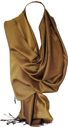Bullahshah Beautiful Reversible Two Sided Silk Wrap Scarf Stole Shawl Head Scarves (Caramel Brown)