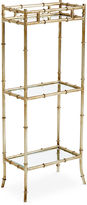 One Kings Lane 3-Tier Bamboo-Style Side Table, Silver