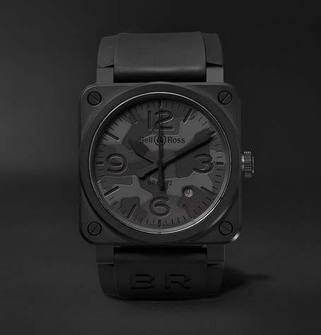 Bell & Ross Br 03-92 Black Camo 42mm Ceramic And Rubber Watch