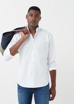 MANGO MAN Slim-Fit Textured Cotton Shirt