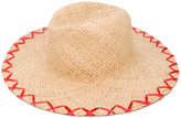 Inverni embroidered straw hat - women - Straw - One Size