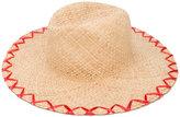 Inverni embroidered straw hat