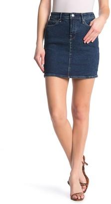 Good American The Denim Mini Skirt (Regular & Plus Size)