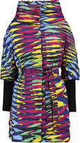 M Missoni Quilted printed shell coat