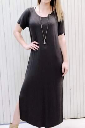 Anama Charcoal Maxi Dress