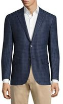 Corneliani Academy Checkered Blazer