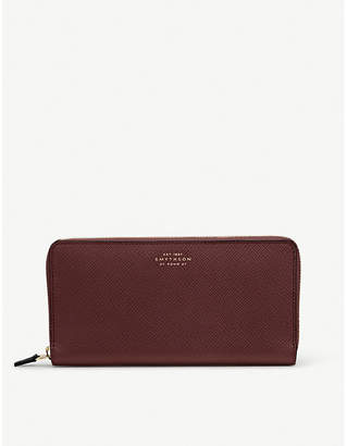 Smythson Panama large leather zip purse