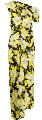 colville Floral-Print Asymmetric Dress