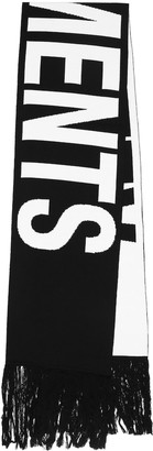 Vetements Logo merino-wool scarf