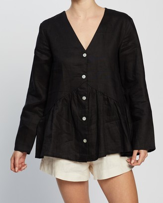 Aere Linen Relaxed Tunic