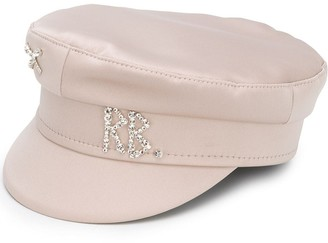 Ruslan Baginskiy Rhinestone Logo Baker Boy Hat