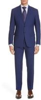 Canali Siena Soft Regular Fit Plaid Wool Suit