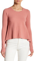 KENDALL + KYLIE Kendall & Kylie Side Draped Long Sleeve Sweater