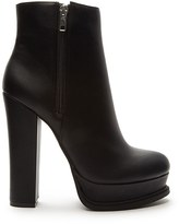 Forever 21 FOREVER 21+ Faux Leather Platform Booties