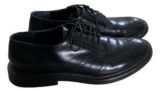 Rochas Black Leather Flats
