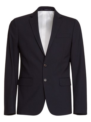 DSQUARED2 Tropical Weight Stretch Worsted Wool Paris Suit In Black