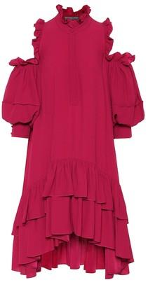 Alexander McQueen Ruffled crepe minidress