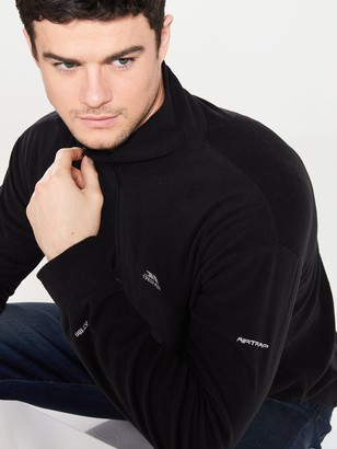 Trespass Masonville 1/2 Zip Fleece - Black
