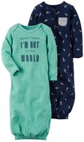 Carter's Baby Boy 2-pk. Space-Themed Sleeper Gowns