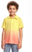 Old Navy Dip-Dye Jersey Polo for Boys