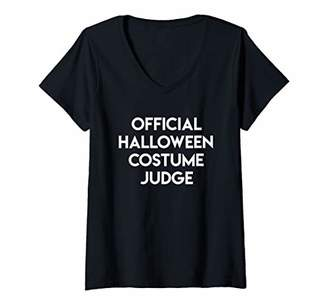 Womens Lazy Halloween Costume Shirt | Halloween Costume Judge V-Neck T-Shirt