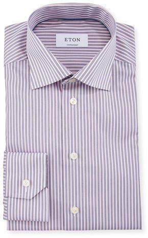 Eton Men's Contemporary Fit Striped Dress Shirt