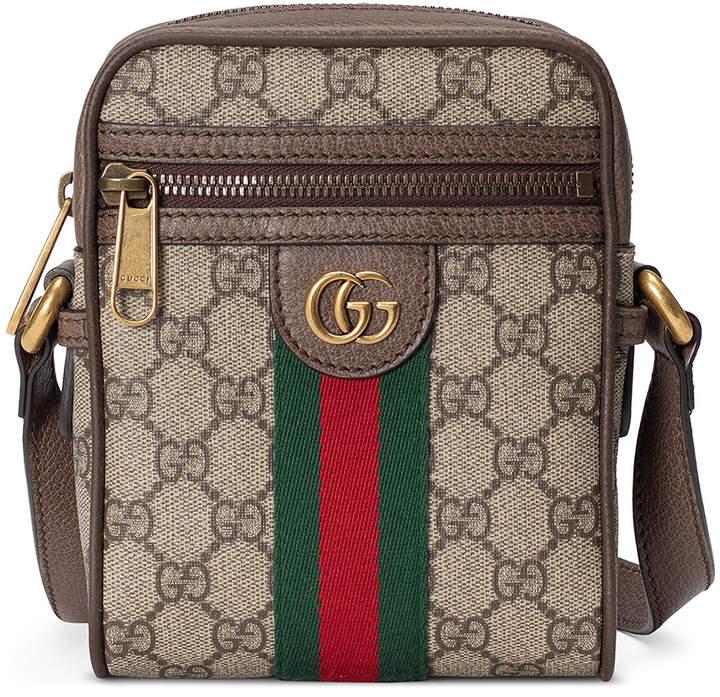 Gucci GG Shoulder Bag In Beige Ebony & Green & Red in Beige Ebony & Green & Red | FWRD