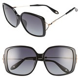 Givenchy Women's 58Mm Square Sunglasses - Black/ Grey