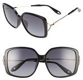 Givenchy Women's 58Mm Sunglasses - Black/ Grey