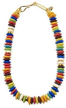 Lizzie Fortunato Women's Laguna 18K Goldplated & Multicolor Beaded Necklace