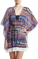 Milly Chia Giraffe-Print Caftan Coverup, Multicolor