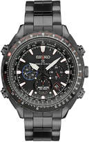 Seiko Men's Chronograph Patriots Jet Team Limited Edition Prospex Radio Synch Solar Black Stainless Steel Bracelet Watch 48mm SSG007