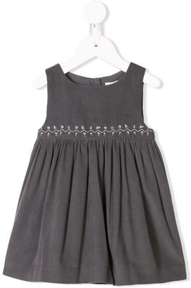 Knot Corduroy Pinafore Dress