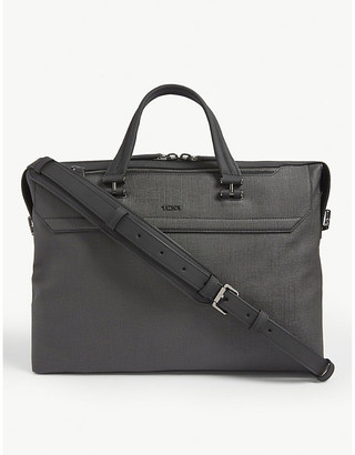 Tumi Gates slim canvas briefcase