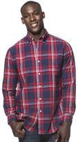 Chaps Men's Oversized Check Button-Down Shirt