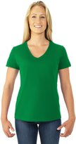 Fruit of the Loom Heavy Cotton Hd Ladies' V-Neck Tee (XL)
