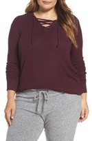 Make + Model Plus Size Women's Lace-Up Pullover