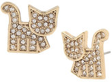 Betsey Johnson Harlem Shuffle Cat Earrings