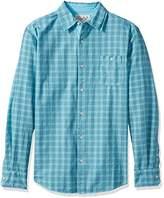 Margaritaville Men's Long Sleeve Space Dyed Gingham Check Shirt