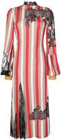Loewe lace insert striped dress
