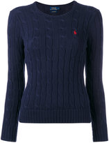 Polo Ralph Lauren logo cable-knit sweater