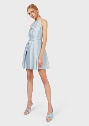 Emporio Armani Flared And Darted, Silk Dress