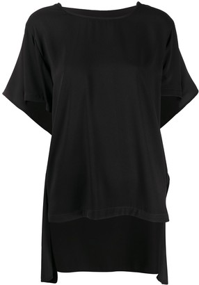 MM6 MAISON MARGIELA draped detail T-shirt
