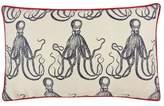 Thomas Paul Octopus Jacquard Pillow - Red Piping