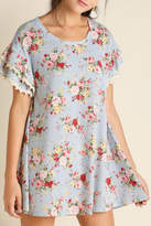 Umgee USA Cotton Floral Dress
