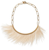 Isabel Marant Gold-tone feather necklace