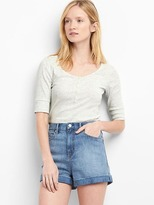 Gap Ribbed scoop neck henley