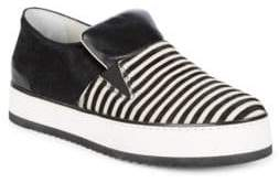 Emporio Armani Stripe Slip-On Sneakers