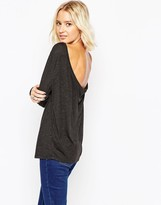 Asos The Scoop Back Top With Long Sleeves
