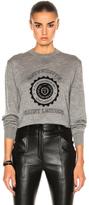 Saint Laurent University Cashmere Sweatshirt in Gray.